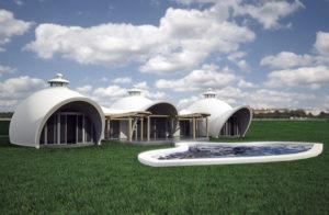 Basalt reinforced concrete dome home