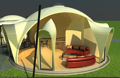 DREAMDOME FIBER GLASS DOME, STORM AND SURVIVAL SHELTER
