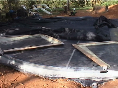 8.0m dome prototype slab and window frames