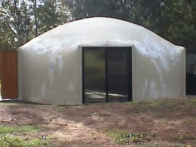 Completed prototype 8.0m diameter dome