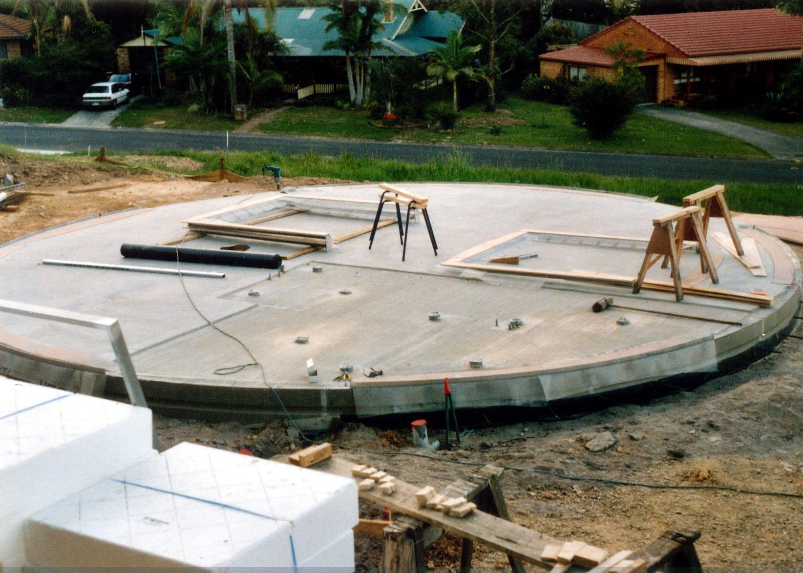9.5m dome slab