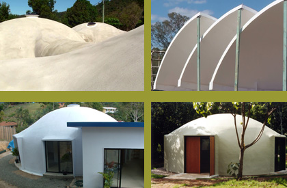 Varied dome and composite materials projects