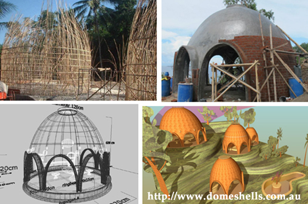 Domes for cyclone shelters and disaster reconstruction for Cost effective ways to build a house