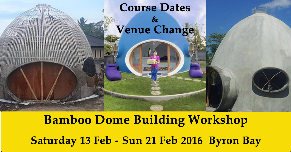 Bamboo Dome Workshop Update
