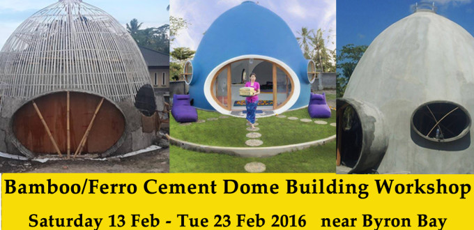 Bamboo Ferro Cement Dome Shell Workshop