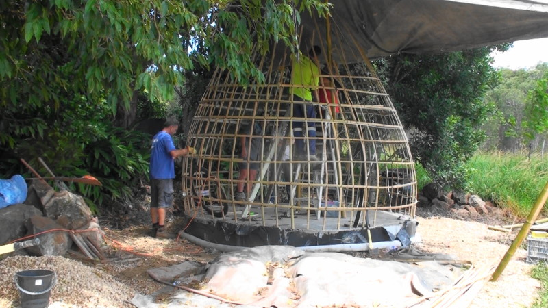 How to make a bamboo dome frame