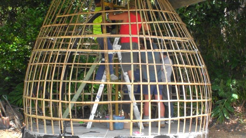 Bamboo Dome taking shape