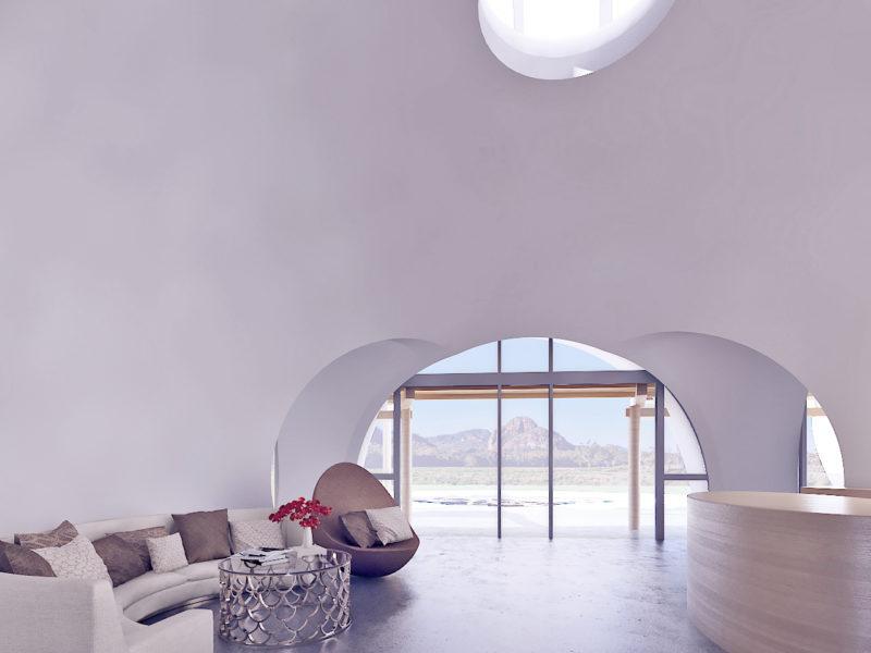 Interior 8.0m Dome shell