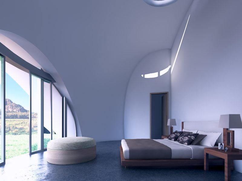 internal custom design dome home